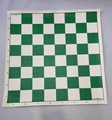 Tablero De Ajedrez De Cuerina Verde 40 X 40