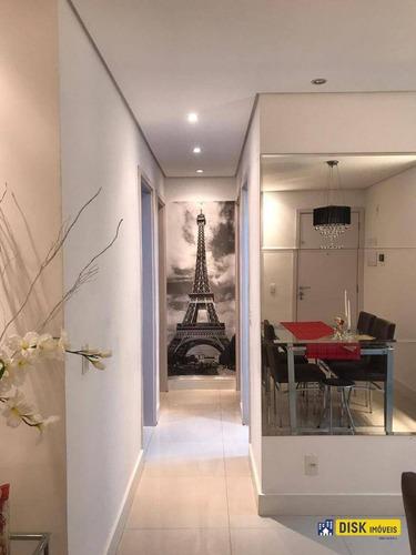 Apartamento Com 3 Dormitórios À Venda, 64 M² Por R$ 349.000,00 - Paulicéia - São Bernardo Do Campo/sp - Ap0714