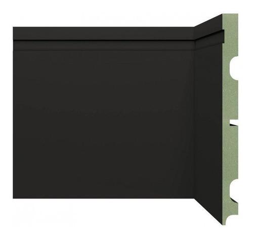 Imagem 1 de 1 de Rodapé Mdf 2002 Resistente A Umidade Black Moldufama Ib