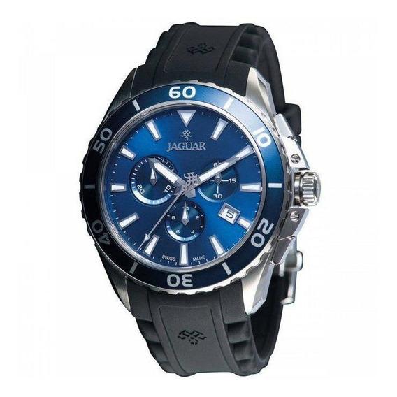 Relógio Jaguar J01casp02 D1px Quartz Mostrador Azul Pulseira