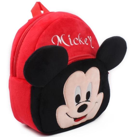 Mochila Infantil Mickey Pelucia Escolar Envio Imediato