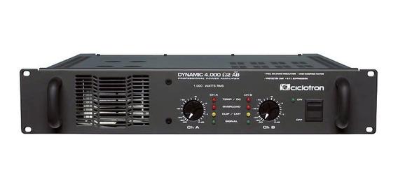 Amplificador Estéreo 2 Canais 1000w Dynamic 4000 - Ciclotron