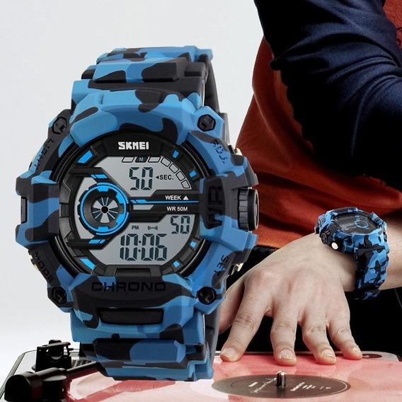 Relógios Masculinos Skmei Military Watch +caixa Acrílica