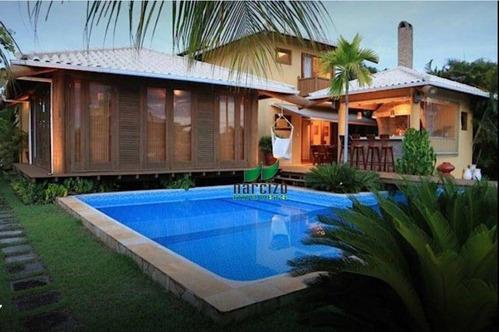 Casa Com 6 Dormitórios À Venda, 488 M² Por R$ 1.980.000,00 - Guarajuba - Camaçari/ba - Ca2598