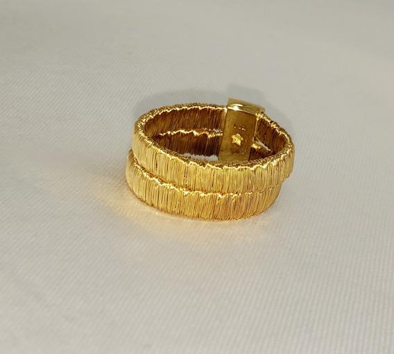 Anel Hstern Flexível Em Ouro Amarelo 18k 750