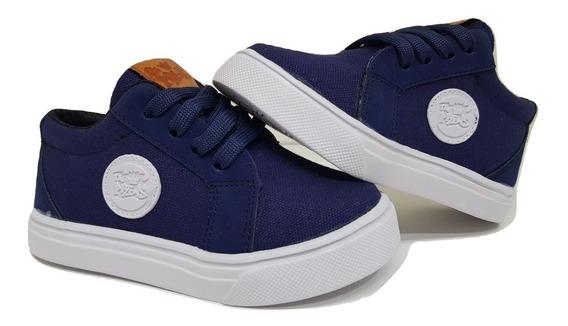 Zapatillas De Lona Nenes/niños Azul Del 19 Al 32