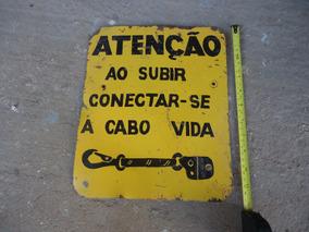 Placa Atençao Amarela Antiga Decoraçao Garagem Bar Filtror