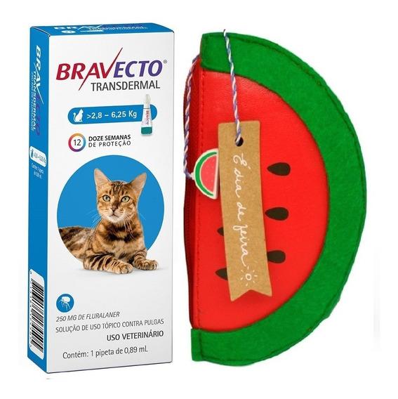 Bravecto Transdermal Para Gatos De 2,8 A 6,25kg - 250mg