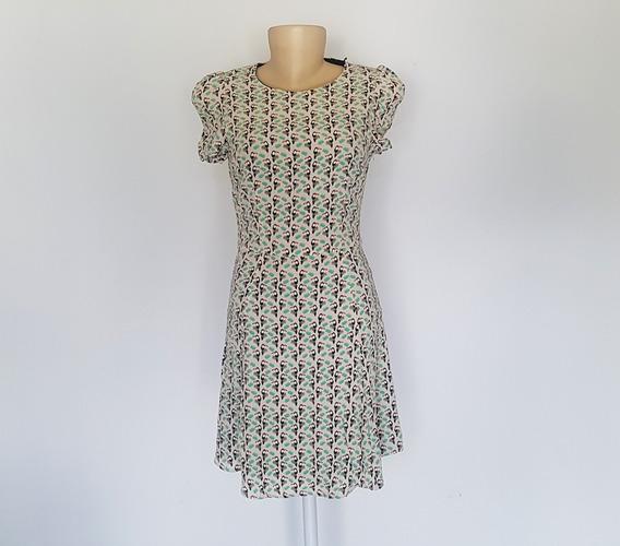 Vestido Zara Original Pp Estampa De Tucanos