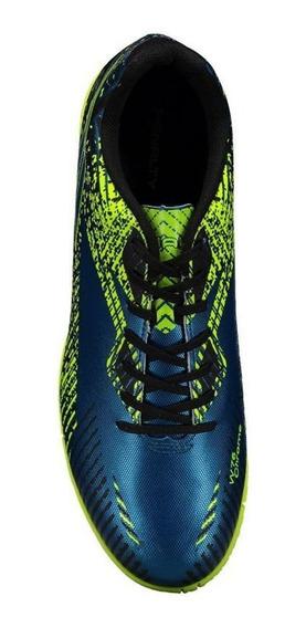 Chuteira Futsal Penalty Storm Ix Masculina - Azul E Verde A5