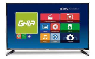 Nueva Smart Tv Ghia Led G43dfhds7,43 Fhd Hdmi Usb Vga Negro