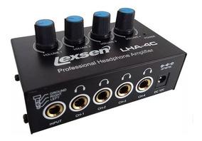 Amplificador De Fones De Ouvido 4 Ch Lexsen Lha-4c = Ha400
