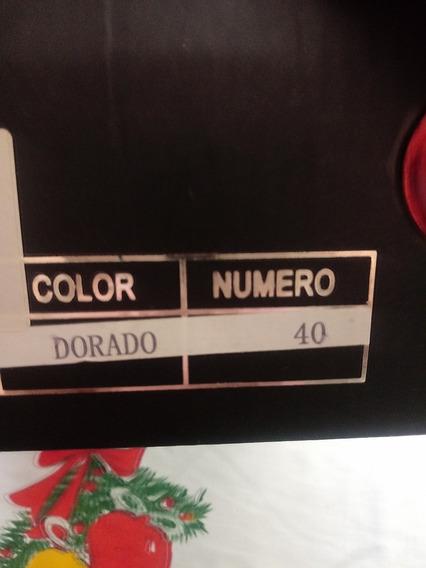Zapatos Dorados Stilletes Talla40 Horma Completa Belloooosss