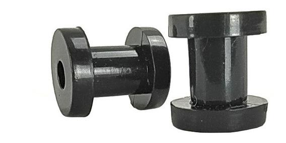 Par De Alargador Túnel Em Acrílico 5mm Preto