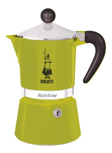 Cafetera Bialetti Rainbow Green 3 Tazas
