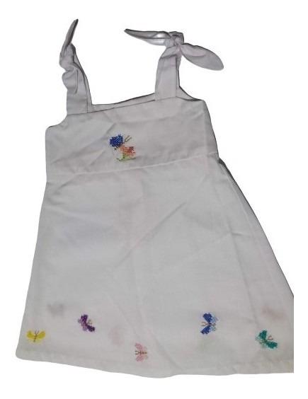 Vestido Nena Bordado A Mano 2 Años