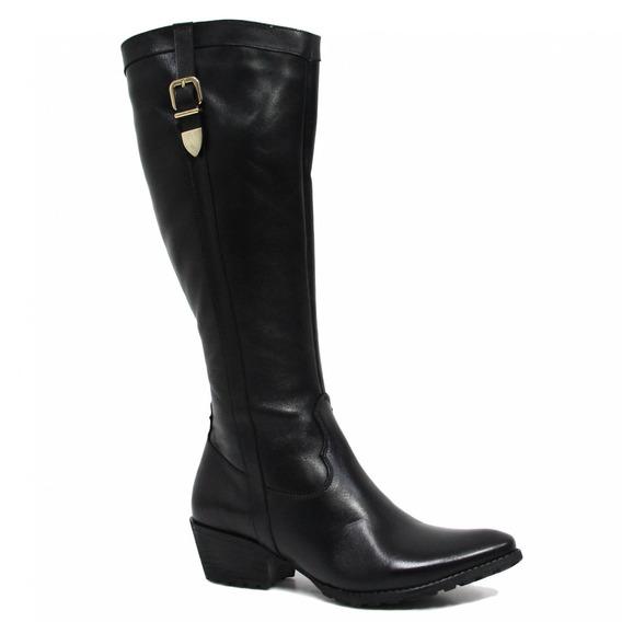 Bota Zariff Shoes Montaria Em Couro Fivela 51714