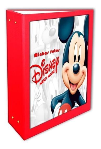 Álbum Mickey Vermelho 10x15 - 240 Fotos + Brinde Especial