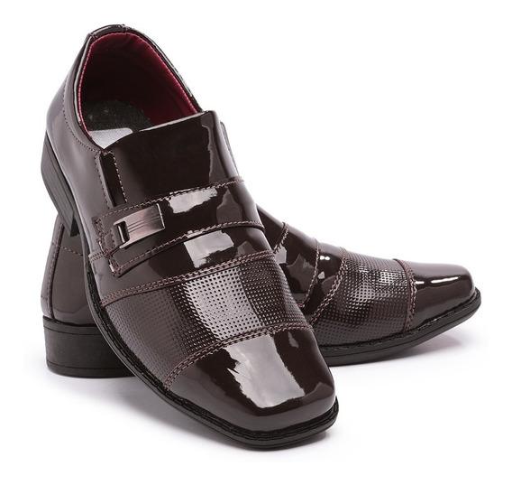 Sapato Social Infantil Masculino Italiano 444 Verniz