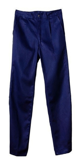 Pantalón De Trabajo Ombu Grafa Azul / Beige 100% Original