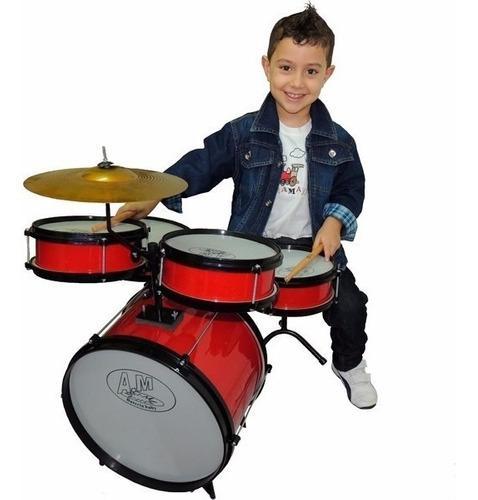 Bateria Acústica Infantil Semi Profissional Rock Baby
