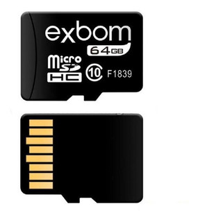 Cartao De Memoria 64gb Exbom Stgd-tf64g 03067 Micro Sd Box