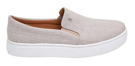 Santa Lolla Tênis Slip On Tecido Natural + Barato