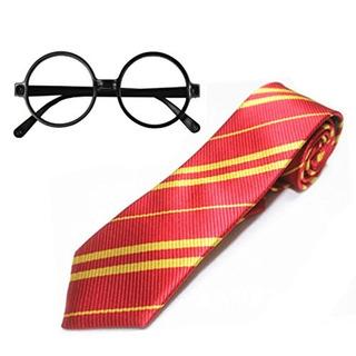 Corbata De Escuela A Rayas Huahuamini Con Gafas De Novedad D
