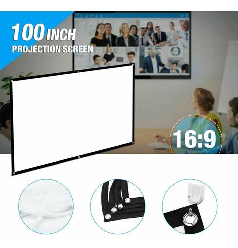 Pantalla Para Proyector Video Beam 100 Pulgadas R: 16:9
