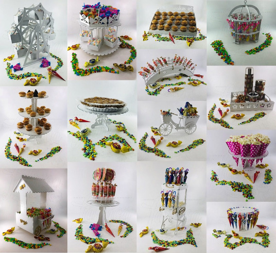 Candy Bar 14 Productos Fibrofacil Gigante + Nombre De Regalo