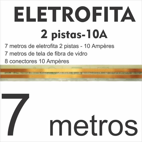 Kit Fita Elétrica (10 A) 2 Pistas - 7m + 2 Tomadas