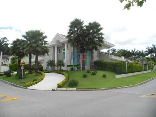 Imagem 1 de 29 de Ref 9553 - Lindíssima Casa No Condomínio Fechado - Residencial Tamboré 1 , Com  4 Dorms, ( 4 Suítes), 6 Vagas, 600 M A.c. Terreno 1.300 M2 - 9553