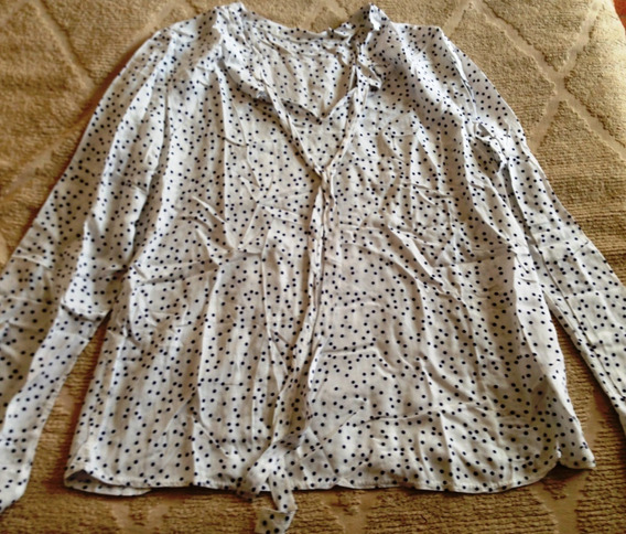 Camisa De Mujer Blanca M Hermosa!!!!!!!!!!!!