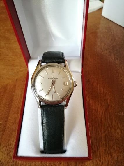 Reloj Eternamatic Automatico Sello De Chapa Oro 18k