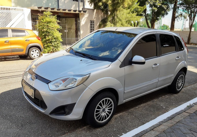 Ford Fiesta Hatch Prata 1.6 Se Completo 2013 Docs Pagos !