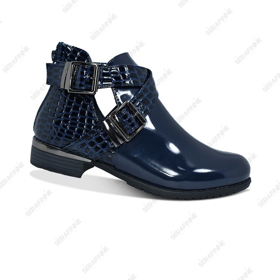 Bota Zapato Charrito Texanas Mujer Charol Sun Miss Y065-9