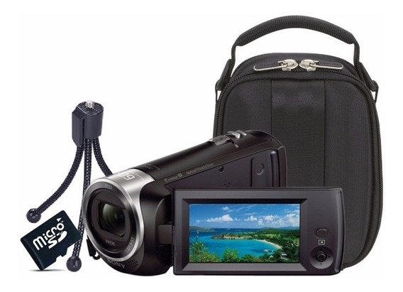 Filmadora+64gb C/10+bols+tripé Sony Hdr-cx405 Full Hd Origin