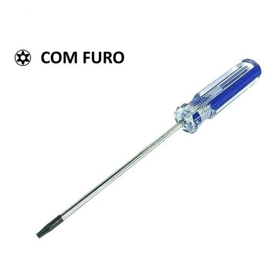 Chave Torx T6 Com Furo Tr6 T6h