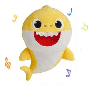 Baby Shark Tiburón Con Luz Y Música 33 Cm - Envío Gratis