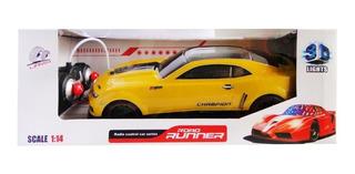 Auto Radio Control Remoto A Bateria Con Luz Juguete 40x15cm