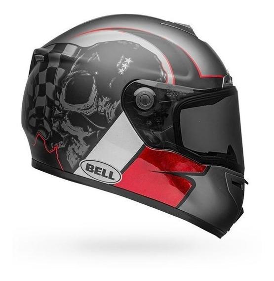 Capacete Moto Bell Srt Hart Luck Fibra De Vidro