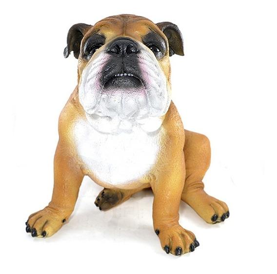 Cachorro Bulldog Inglês Duke Pet Amigo Dog Decorativo Resina