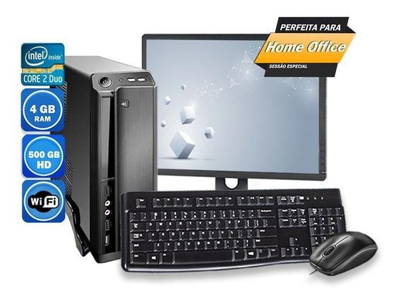 Computador Pc Completo Intel 4gb Hd 500gb Wi-fi
