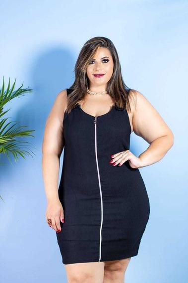 Vestido Plus Size Feminino Ziper Moda Gg Roupas Femininas