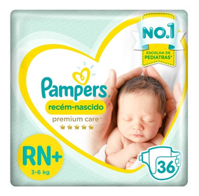 Fralda Pampers Premium Care Rn Plus C/36 Unidadas 3 À 6 Kg