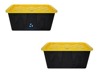 Kit 2 Caja Plástico Almacenamiento Profesional 102 Lt Envío
