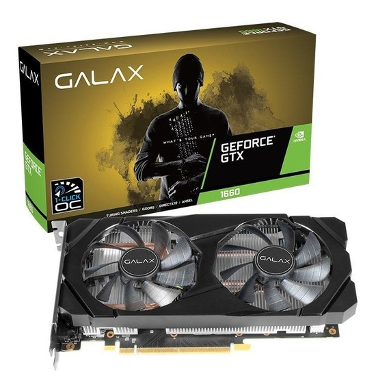 Placa De Vídeo Nvidia Gtx 1660 Oc 6gb Galax