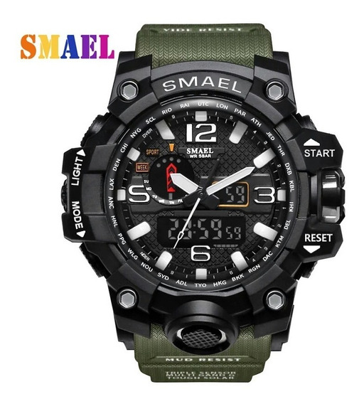 Relógio Masculino Smael 1545 Original S-shock A Prova D´água