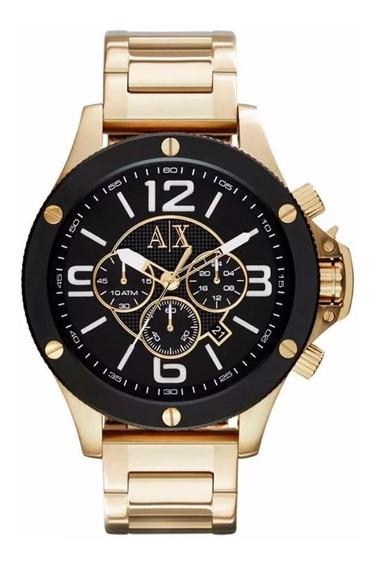 Relógio Yx1514 Armani Exchange Ax1511 Ouro 18k C/ Caixa