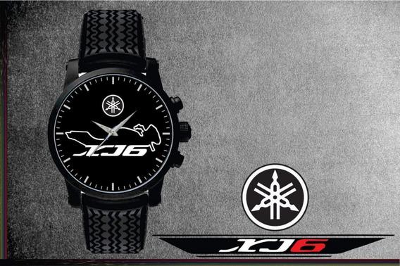 Relógio De Pulso Personalizado Logo Yamaha Xj6 Pulseira Pneu